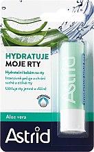 Parfumuri și produse cosmetice Balsam de buze - Astrid Moisturizing Lip Balm With Aloe Vera