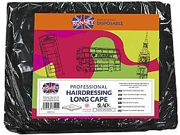 Parfumuri și produse cosmetice Pelerină pentru coafor, lungă, neagră - Ronney Professional Hairdressing Long Cape