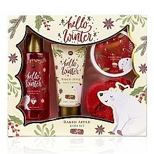 Parfumuri și produse cosmetice Set - Accentra Hello Winter Baked Apple (sh/g/150ml + b/lot/60ml + salt/70g + sponge)