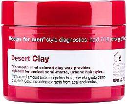 Parfumuri și produse cosmetice Argilă-ceară pentru păr - Recipe for Men Desert Clay Wax