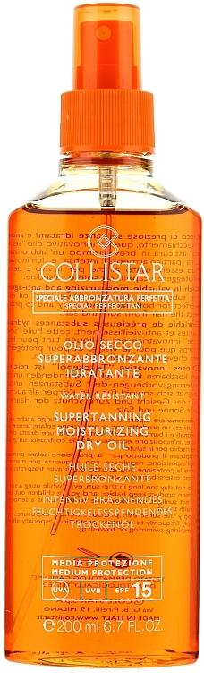 Ulei uscat pentru bronzare intensă - Collistar Supertanning Moisturizing Dry Oil SPF 15