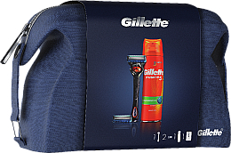 Parfumuri și produse cosmetice Set - Gillette Fusion Proglide (shave/gel/200ml + razor + blade/2 + pounch)