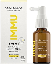 Parfumuri și produse cosmetice Spray revigorant și de protecție pentru cavitatea bucală - Madara Cosmetics IMMU Refresh & Protect Mouth Spray