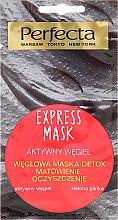 Parfumuri și produse cosmetice Маска для лица с углем и зеленой глиной - Perfecta Express Mask