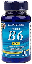 "Parfumuri și produse cosmetice Supliment alimentar ""Vitamina B6"", 50 mg - Holland & Barrett Vitamin B6 50mg"