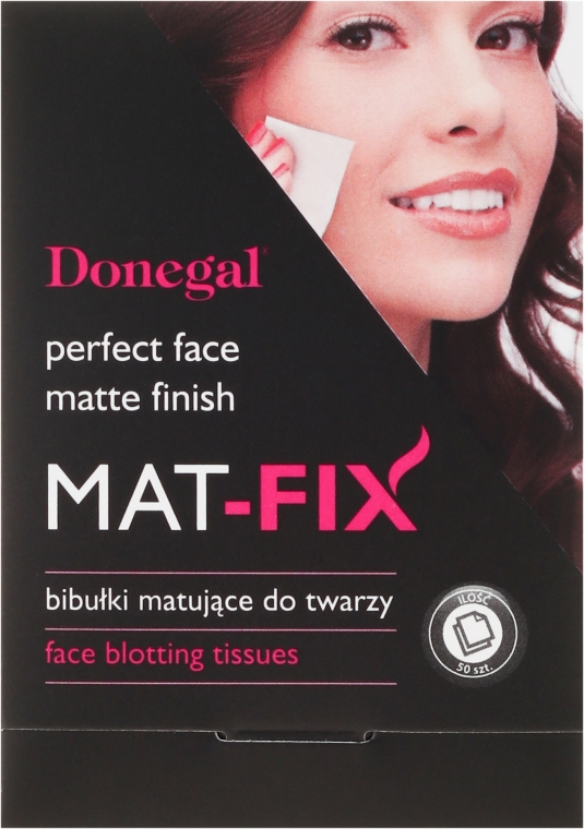Șervetele matifiante pentru față - Donegal Face Blotting Tissues Mat-Fix