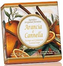 """Parfumuri și produse cosmetice Săpun natural """"Portocală și scorțișoară"""" - Saponificio Artigianale Fiorentino Orange & Cinnamon Soap"""