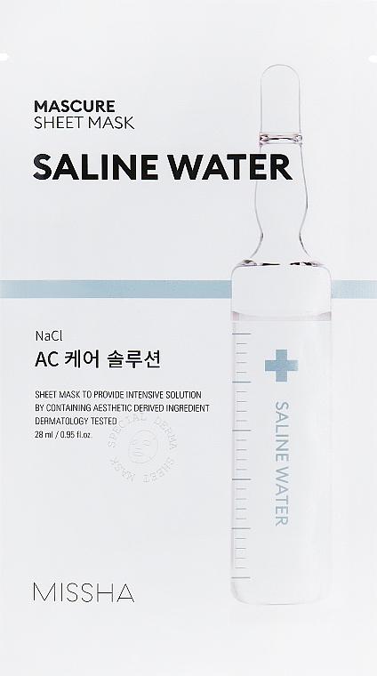 Mască hidratantă cu extract de apă sărată - Missha Mascure AC Care Solution Sheet Mask Saline Water — Imagine N1