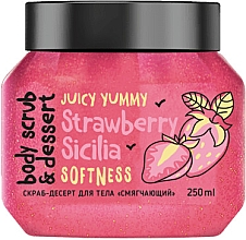 """Parfumuri și produse cosmetice Scrub pentru corp """"Înmuiere. Căpșuni"""" - MonoLove Bio Strawberry Sicilia Softness Body Scrub"""