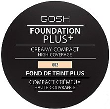 Parfumuri și produse cosmetice Fond de ten cremă, compact - Gosh Foundation Plus + Creamy Compact High Coverage