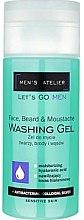 Parfumuri și produse cosmetice Gel de curățare pentru față - Hean Men's Atelier Face Beard & Moustache Washing Gel