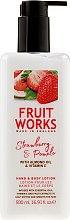 Parfumuri și produse cosmetice Loțiune de corp - Grace Cole Fruit Works Hand & Body Lotion Strawberry & Pomelo