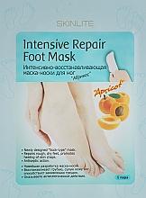 """Parfumuri și produse cosmetice Mască regenerantă pentru picioare """"Caise"""" - Skinlite Intensive Repair Foot Mask"""