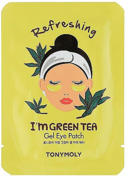 Гелевые патчи для глаз зеленого чая - Tony Moly Refreshing Im Green Tea Eye Mask  — фото N1