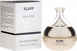 Parfumuri și produse cosmetice Cremă pentru zona ochilor - Klapp Silk Code Eye Contour Cream