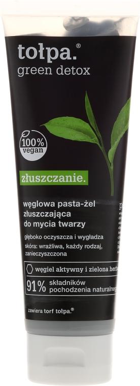 Pastă cu cărbune pentru curățarea feței - Tolpa Green Detox Paste
