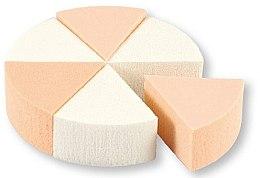 Духи, Парфюмерия, косметика Спонжи для макияжа, 35821, белые и бежевые, 6 шт - Top Choice Foundation Sponges