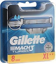 Духи, Парфюмерия, косметика Сменные кассеты для бритья, 8 шт. - Gillette Mach3 Turbo