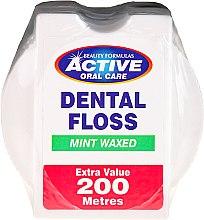 Духи, Парфюмерия, косметика Зубная нить со вкусом мяты - Beauty Formulas Active Oral Care Dental Floss Mint Waxed 200m