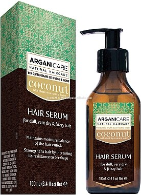 Ser cu ulei de cocos pentru păr - Arganicare Coconut Hair Serum For Dull, Very Dry & Frizzy Hair — Imagine N1