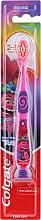 Parfumuri și produse cosmetice Periuță de dinți, pentru copii, 2-6 ani, roz-violet, Troll - Colgate Smiles Kids Extra Soft