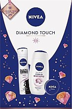 Parfumuri și produse cosmetice Set - Nivea Diamond Touch 2019 (sh/gel/250ml+cream/30ml+deo/150ml)