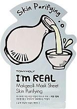 Parfumuri și produse cosmetice Листовая маска для лица - Tony Moly I'm Real Makgeolli Mask Sheet