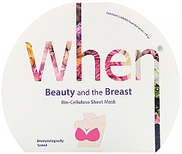 Духи, Парфюмерия, косметика Mască de bioceluloză pentru fermitatea bustului - When Beauty And The Breast Bio-Cellulose Mask