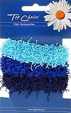 Parfumuri și produse cosmetice Elastice de păr 3 buc., albastre - Top Choice