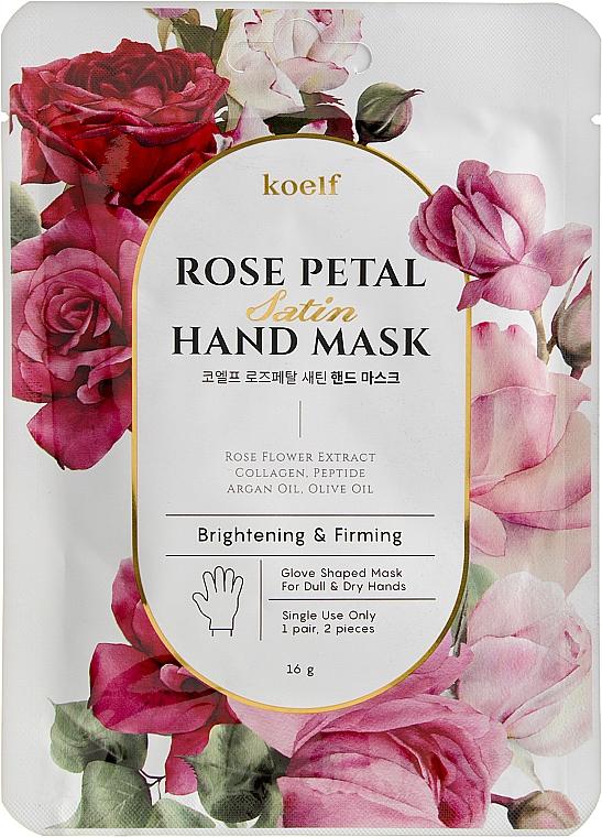 Укрепляющая маска-перчатки для рук - Petitfee&Koelf Rose Petal Satin Hand Mask — фото N1