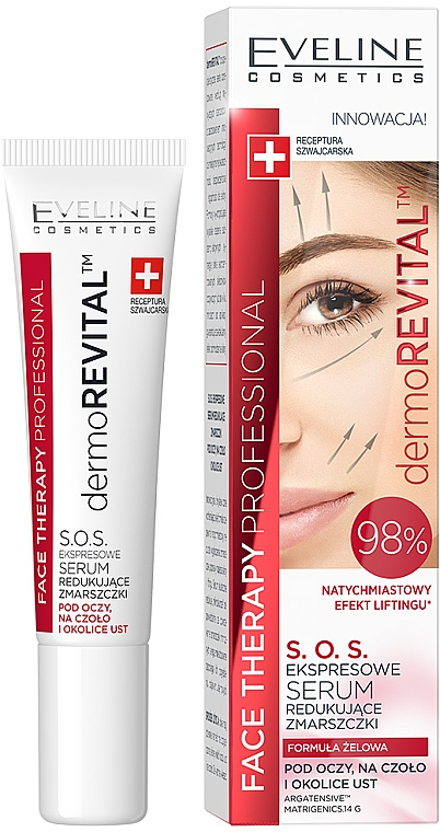 Ser anti-rid pentru față - Eveline Cosmetics Therapy Professional SOS DermoRevital