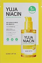 Parfumuri și produse cosmetice Mască din țesătură pentru față - Some By Mi Yuja Niacin Blamish Care Serum Mask