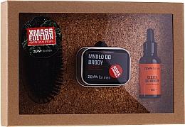 Parfumuri și produse cosmetice Set - Zew For Men (oil/30ml + soap/85ml + brush/1pcs + soap/holder/1pcs)