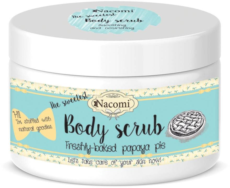 """Peeling scrub pentru corp """"Placintă de papaya"""" - Nacomi Body Scrub Freshly Baked Papaya Pie — Imagine N1"""