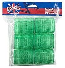 Духи, Парфюмерия, косметика Бигуди на липучке 48/63, зеленые - Ronney Professional Velcro Roller
