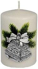 """Parfumuri și produse cosmetice Lumânare decorativa """"Clopot de Crăciun argintiu"""", 7x10 cm - Artman Christmas Bell Candle"""