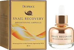 Parfumuri și produse cosmetice Ser iluminant pentru față  - Deoproce Snail Recovery Brightening Ampoule