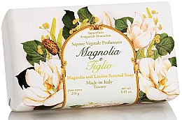 """Parfumuri și produse cosmetice Săpun natural """"Magnolia și Linden"""" - Saponificio Artigianale Fiorentino Magnolia&Linden Soap"""
