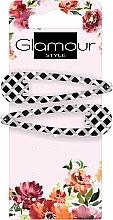 Parfumuri și produse cosmetice Agrafă de păr, 417674, alb-neagră - Glamour