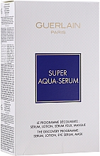 Parfumuri și produse cosmetice Set - Guerlain Super Aqua Serum Set (serum/50ml + eye/serum/5ml + mask/1pcs + lot/15ml)
