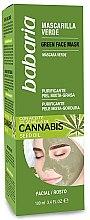 Parfumuri și produse cosmetice Mască de curățare pentru față - Babaria Cannabis