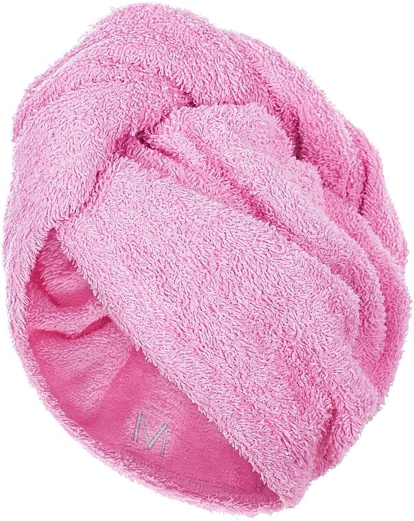 Prosop turban pentru uscarea părului, roz - MakeUp