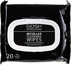 Parfumuri și produse cosmetice Șervețele micelare demachiante - Gosh Donoderm Micellar Cleansing Wipes
