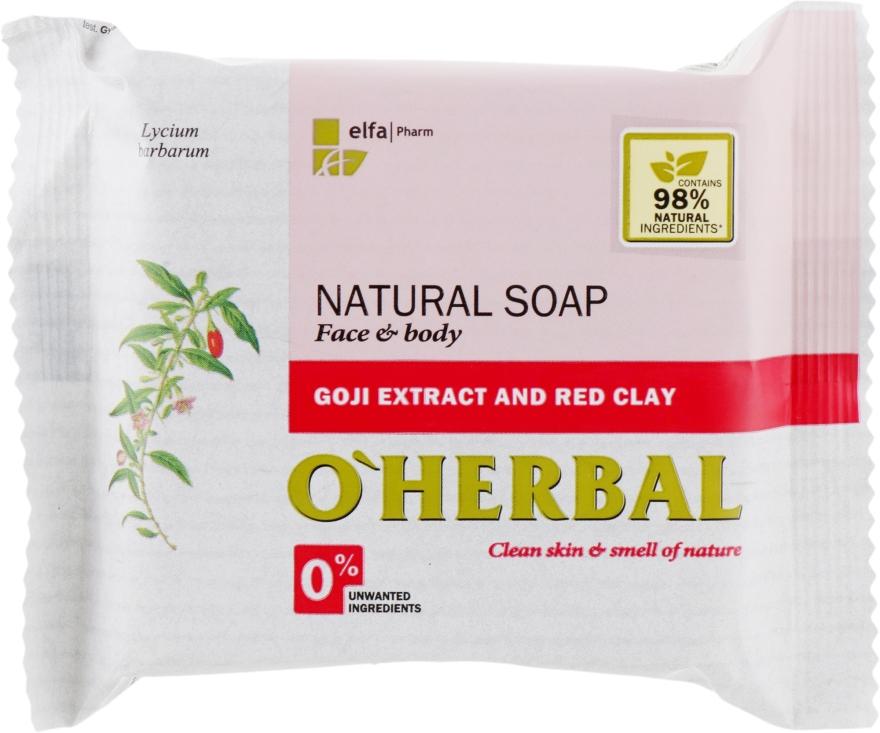 Săpun natural cu extract de goji și argilă roșie - O'Herbal Natural Soap — Imagine N1