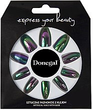 Parfumuri și produse cosmetice Set unghii false, negre - Donegal Express Your Beauty