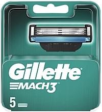 Духи, Парфюмерия, косметика Сменные кассеты для бритья, 5 шт. - Gillette Mach3