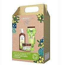 Parfumuri și produse cosmetice Set - GlySkinCare Organic Macadamia Oil (b/lot/250ml + sh/gel/250ml + b/scrub/400g)