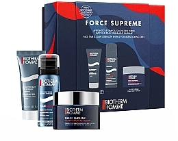 Parfumuri și produse cosmetice Set - Biotherm Homme Force Supreme Youth Architect (cr/50ml + shaving/foam/50ml + cl/gel/40ml)