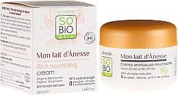 Parfumuri și produse cosmetice Cremă de față - So'Bio Etic Mon Lait d'Anesse Rich Nourishing Cream