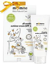 Parfumuri și produse cosmetice Cremă protectoare hipoalergenică - Momme Baby Natural Care All Weather Outdoor Cream SPF25